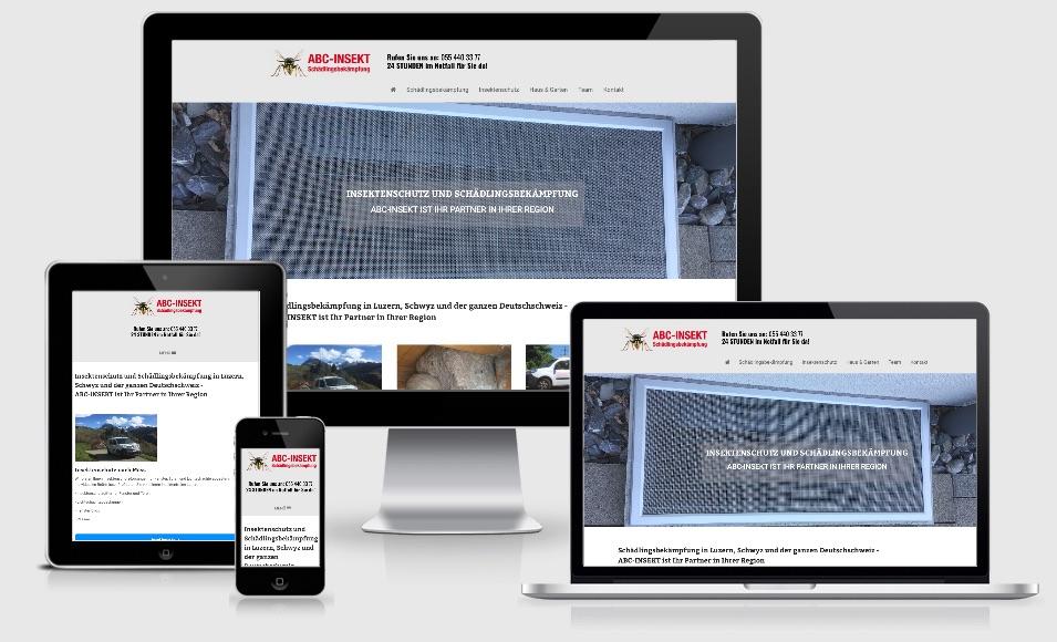 homepage erstellen lassen abc insekt